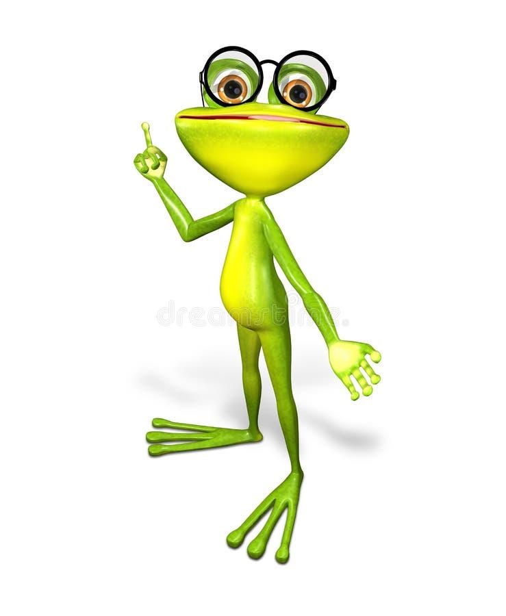 Πράσινος βάτραχος ελεύθερη απεικόνιση δικαιώματος