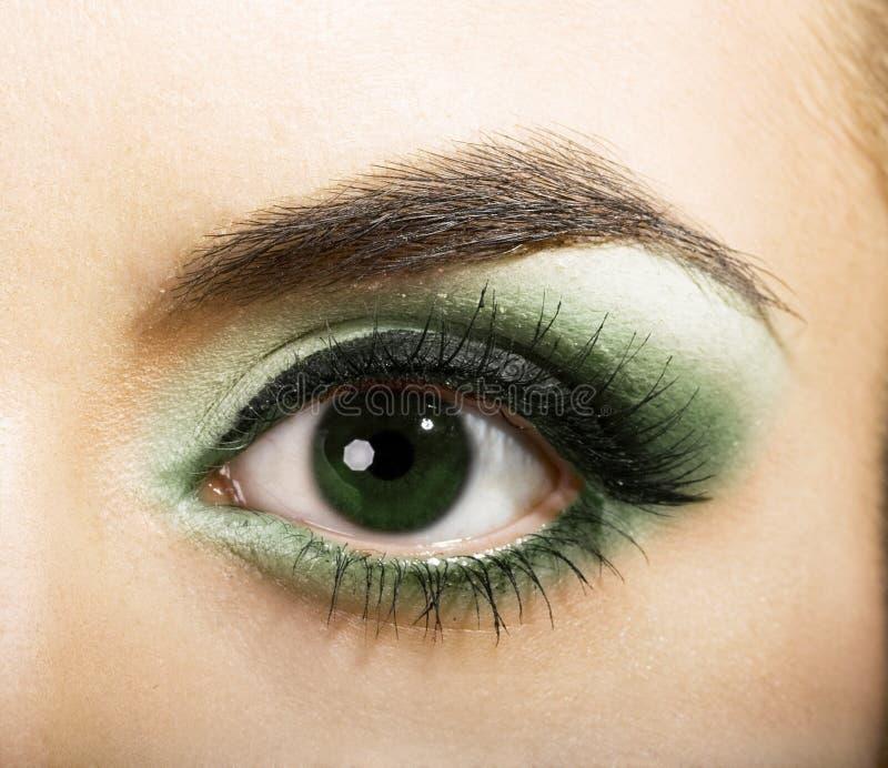 πράσινος γυναικείος ματιών στοκ φωτογραφία