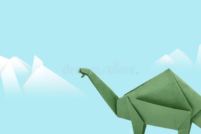 Πράσινος δεινόσαυρος εγγράφου στοκ εικόνες