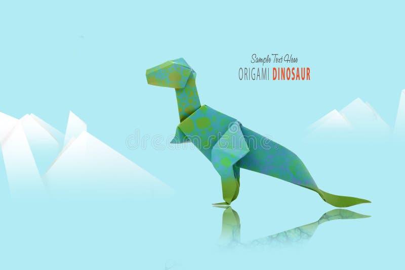 Πράσινος δεινόσαυρος εγγράφου διανυσματική απεικόνιση