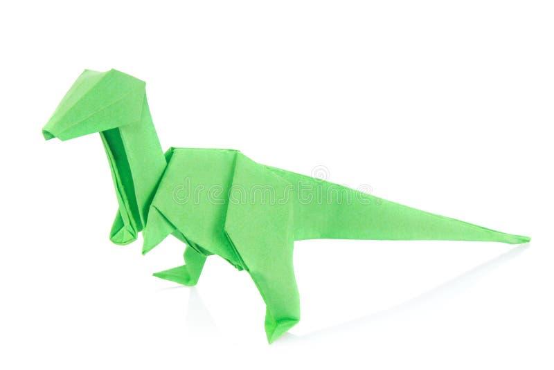 Πράσινος δεινόσαυρος Velociraptor του origami στοκ εικόνες με δικαίωμα ελεύθερης χρήσης