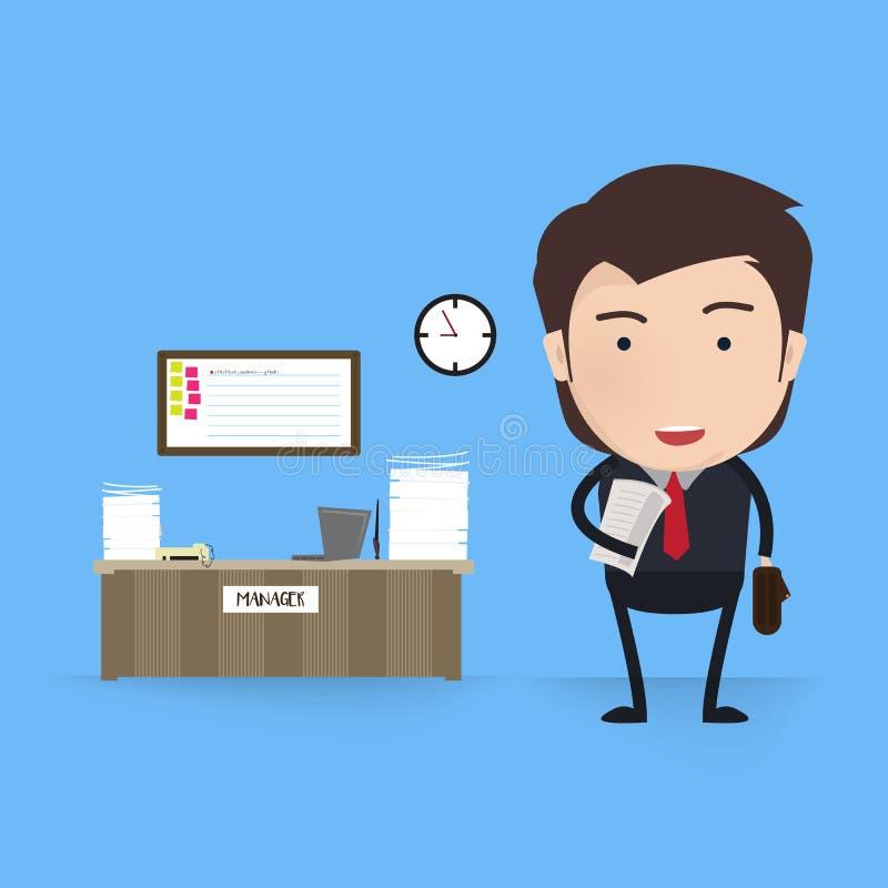 πράσινος εργαζόμενος γραφείων ανασκόπησης Επιχειρησιακή εργασία, γραφείο και εργασιακός χώρος, άτομο υπαλλήλων, επιχειρηματίας, ρ απεικόνιση αποθεμάτων