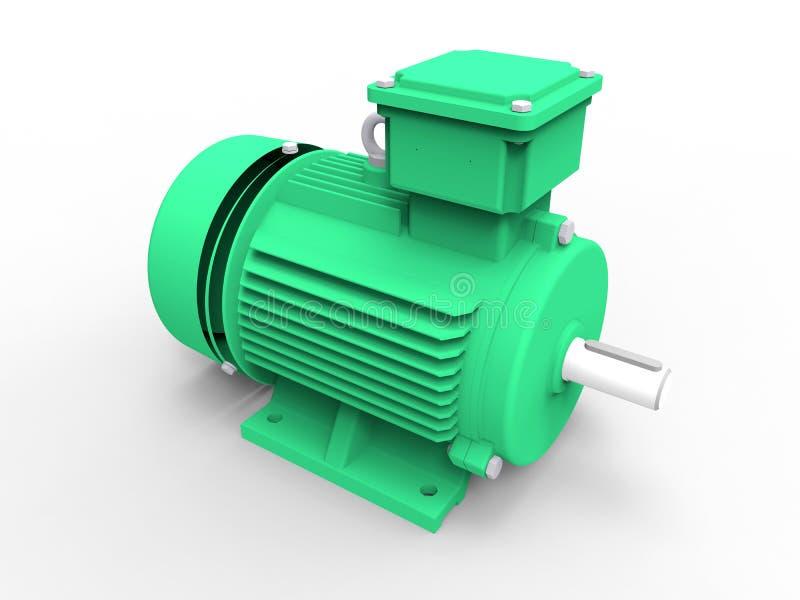 Πράσινος ηλεκτρικός κινητήρας ελεύθερη απεικόνιση δικαιώματος