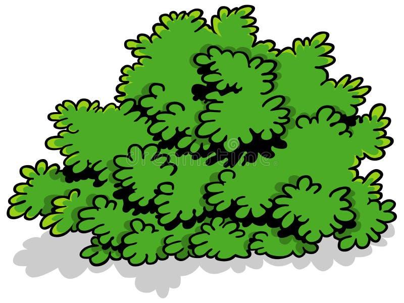 Πράσινος θάμνος κινούμενων σχεδίων διανυσματική απεικόνιση