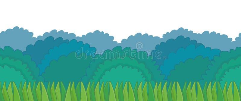 Πράσινος θάμνος με τα σύνορα χλόης απεικόνιση αποθεμάτων