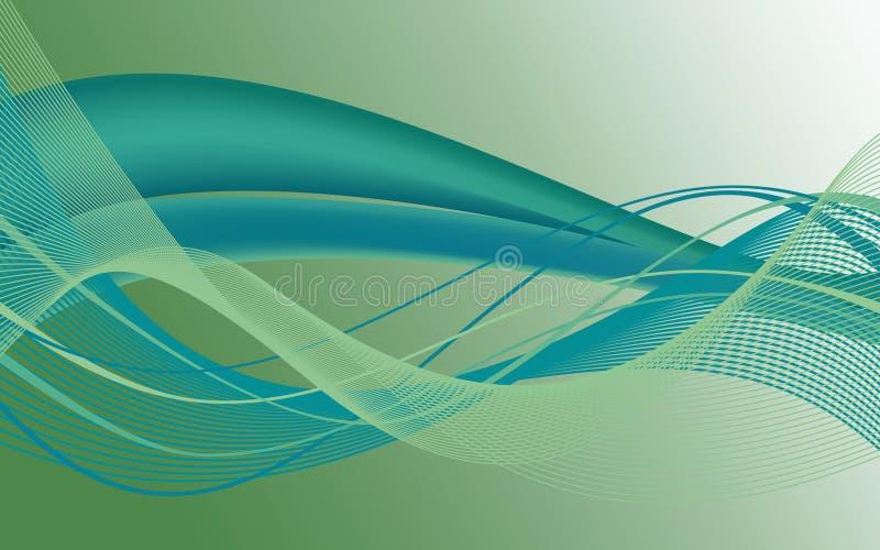 Πράσινος καμβάς και πράσινες μορφές στο υπόβαθρο διανυσματική απεικόνιση