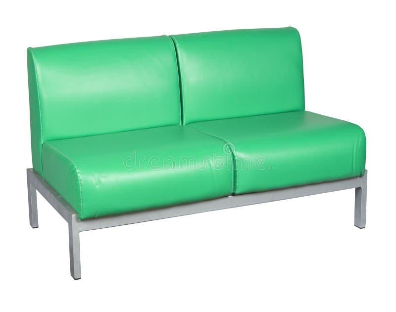 πράσινος καναπές δέρματος στοκ φωτογραφία