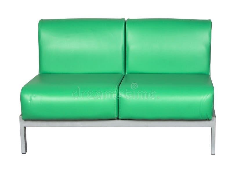 πράσινος καναπές δέρματος στοκ εικόνα