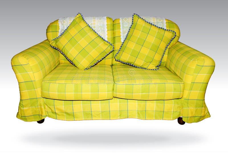 πράσινος καναπές στοκ εικόνες με δικαίωμα ελεύθερης χρήσης