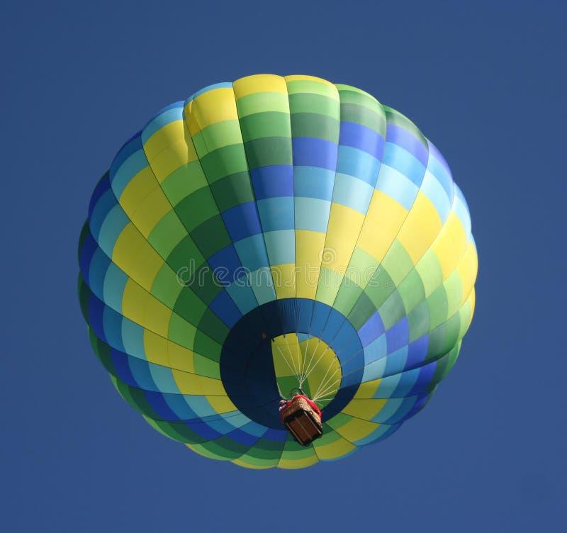 πράσινος καυτός μπαλονιών στοκ φωτογραφίες
