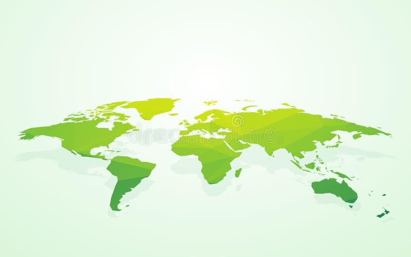 Πράσινος κενός παγκόσμιος χάρτης fake3D ελεύθερη απεικόνιση δικαιώματος