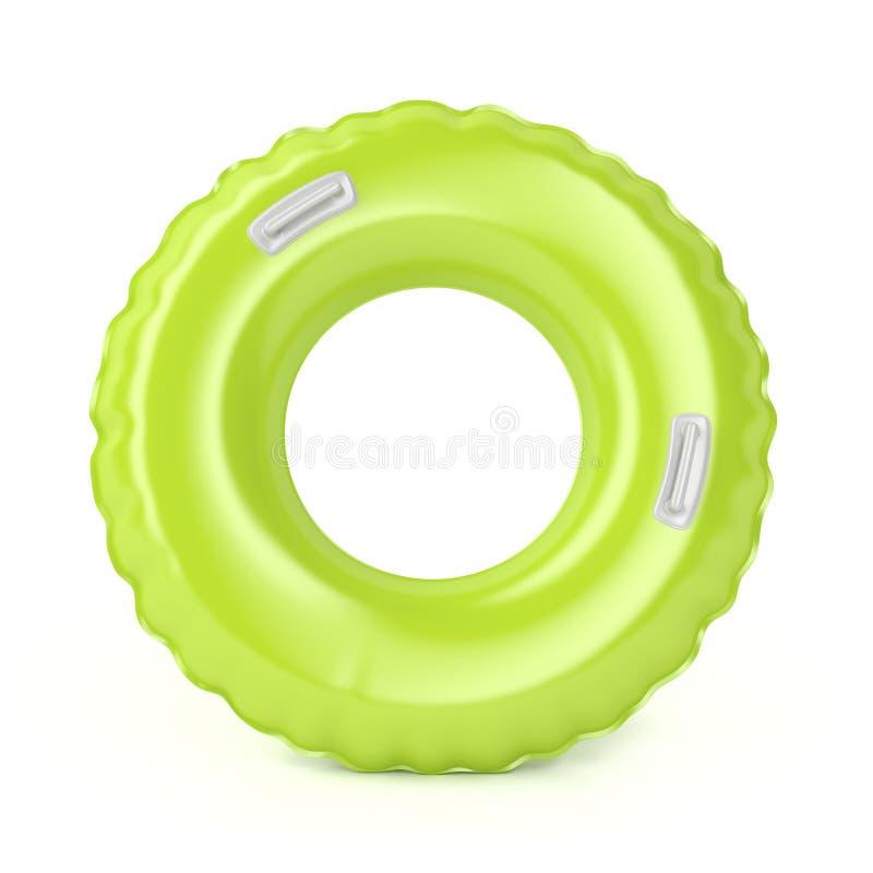Πράσινος κολυμπήστε το δαχτυλίδι ελεύθερη απεικόνιση δικαιώματος