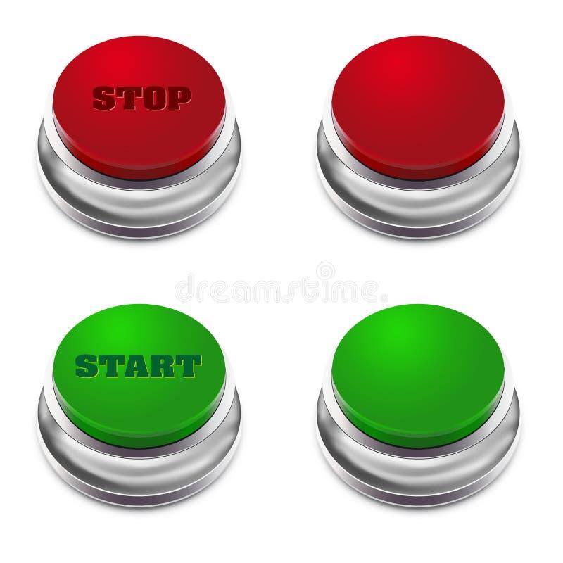 πράσινος κόκκινος εκκίνη&s ελεύθερη απεικόνιση δικαιώματος