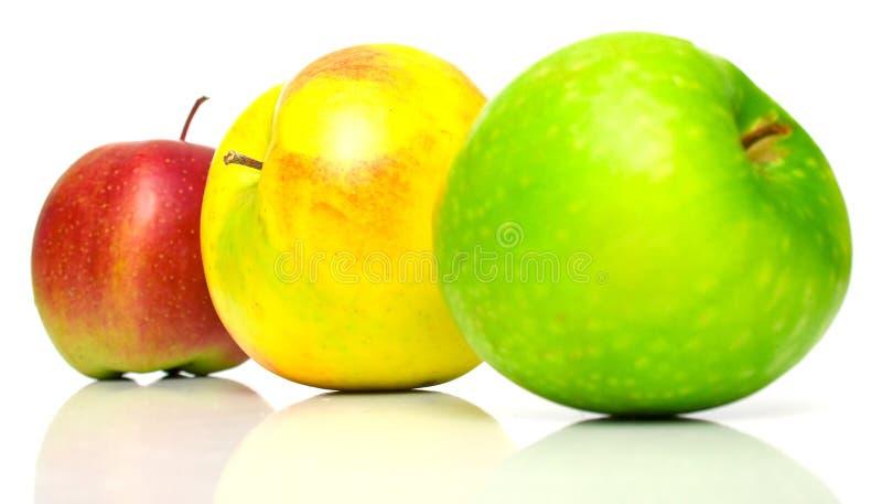 πράσινος κόκκινος κίτρινος μήλων στοκ εικόνα με δικαίωμα ελεύθερης χρήσης