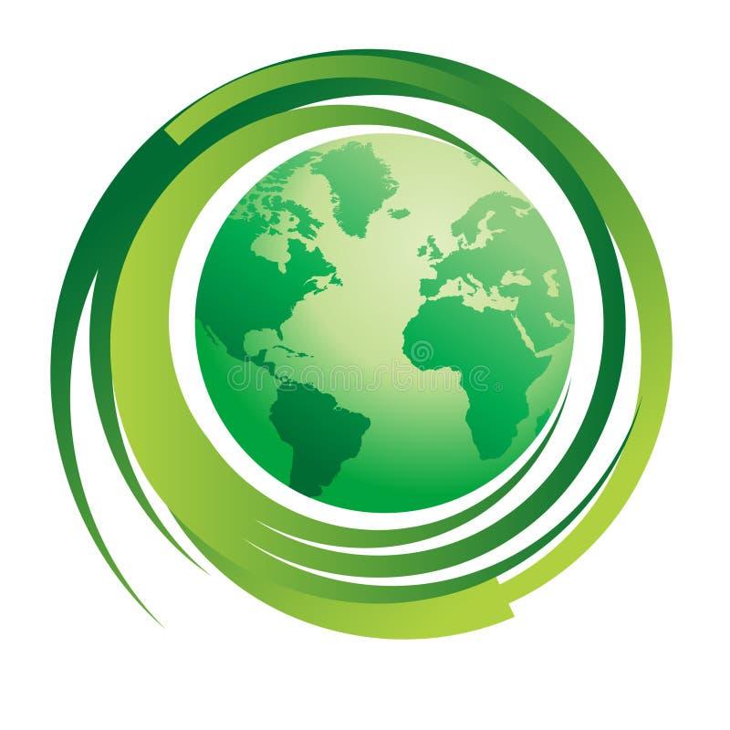 πράσινος κόσμος έννοιας ελεύθερη απεικόνιση δικαιώματος