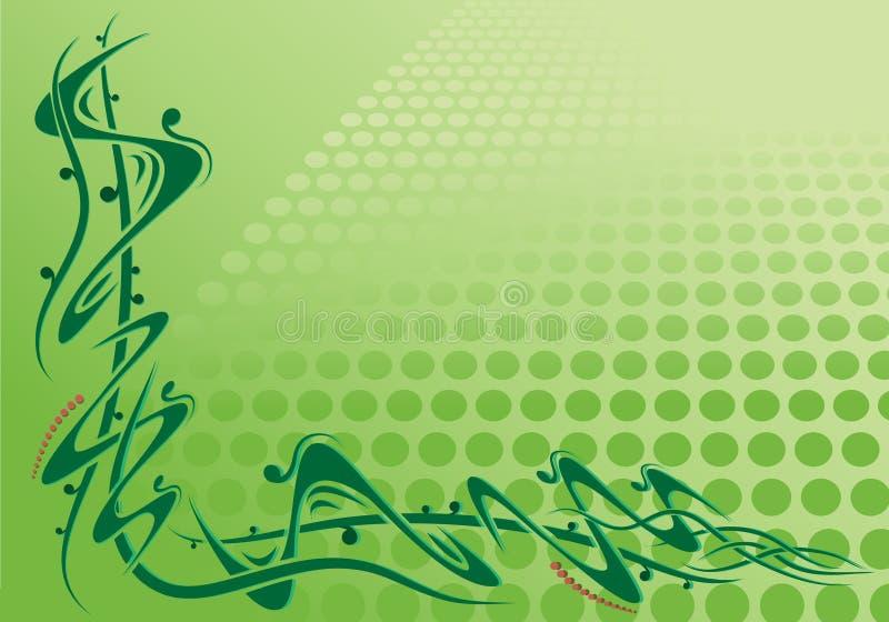 πράσινος κύλινδρος γωνιών απεικόνιση αποθεμάτων