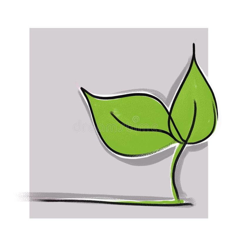 πράσινος λίγο φυτό απεικόνιση αποθεμάτων