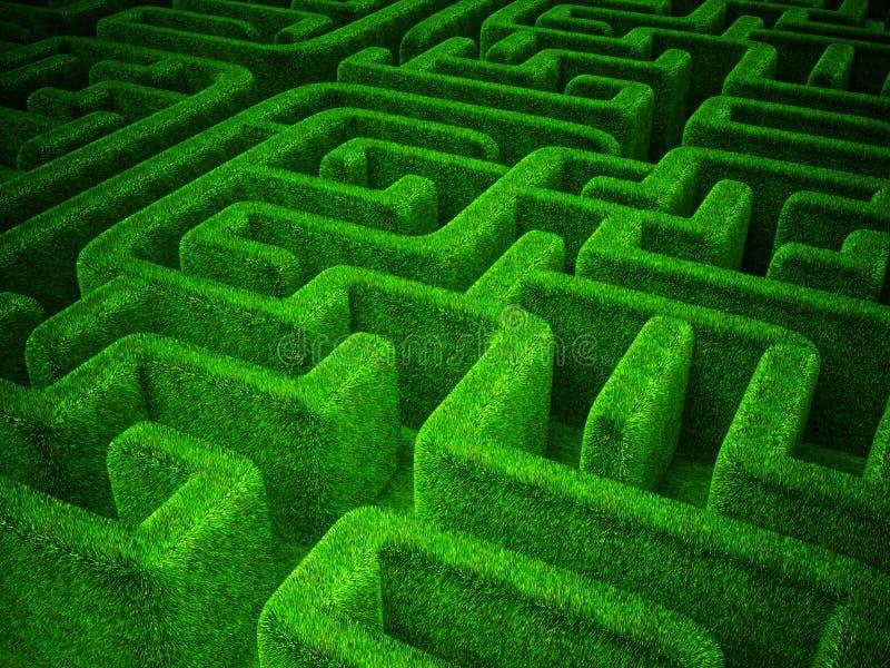 Πράσινος λαβύρινθος ελεύθερη απεικόνιση δικαιώματος