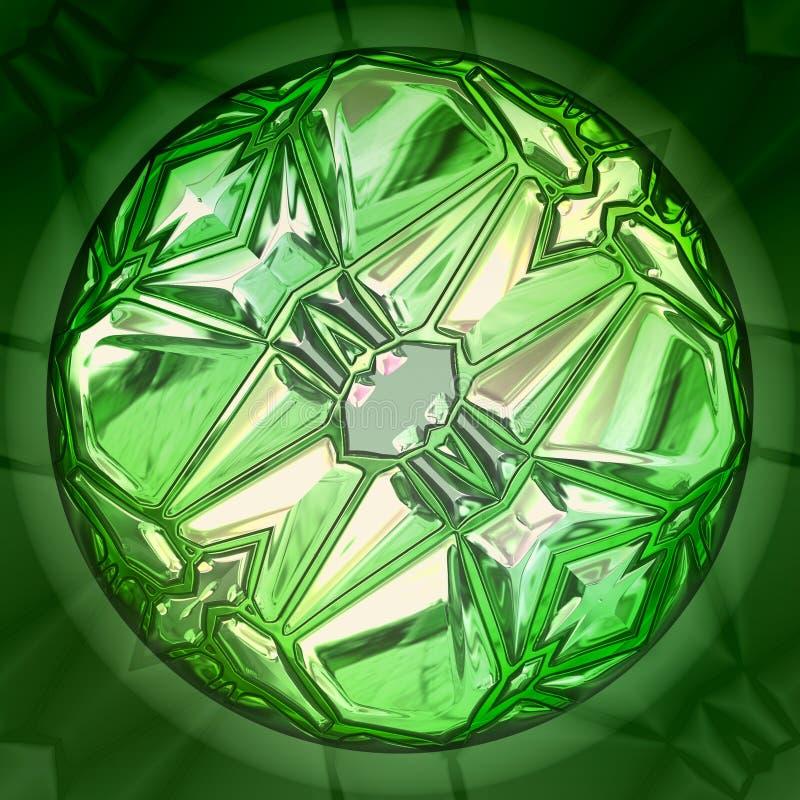 πράσινος μεγάλος πολύτιμ& διανυσματική απεικόνιση