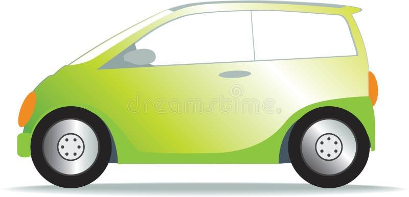 πράσινος μικρός αυτοκινήτ ελεύθερη απεικόνιση δικαιώματος