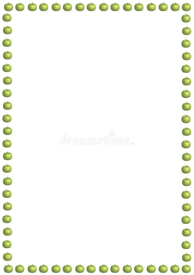 πράσινος μικρός συνόρων μήλ&o ελεύθερη απεικόνιση δικαιώματος