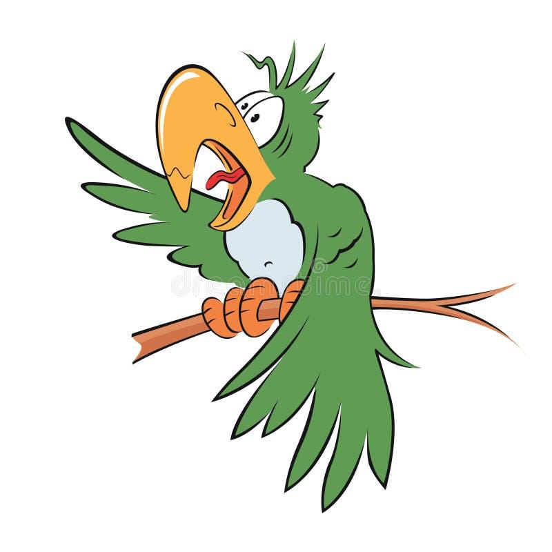 πράσινος παπαγάλος απεικόνιση αποθεμάτων