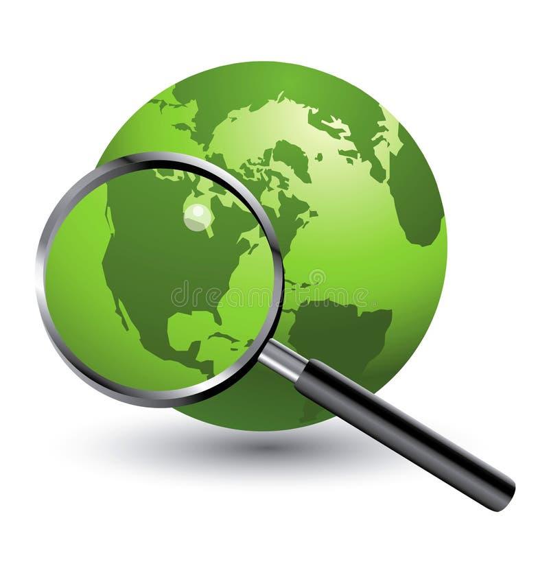 πράσινος πιό magnifier σφαιρών ελεύθερη απεικόνιση δικαιώματος