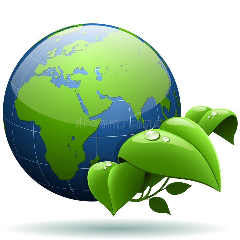 πράσινος πλανήτης έννοιας ελεύθερη απεικόνιση δικαιώματος