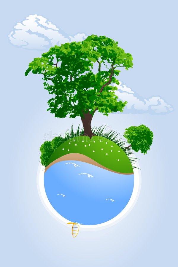πράσινος πλανήτης ελεύθερη απεικόνιση δικαιώματος