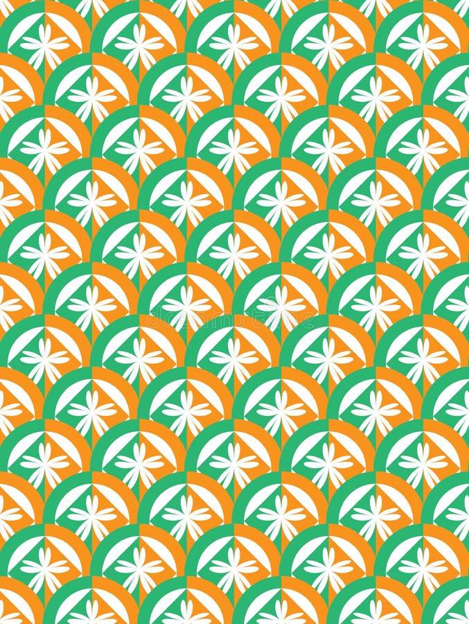 Πράσινος πορτοκαλής κύκλος στοκ φωτογραφία