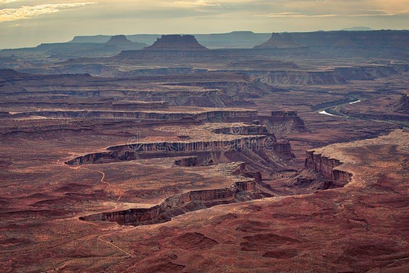 Πράσινος ποταμός πάρκων Canyonlands ο εθνικός αγνοεί στοκ εικόνα