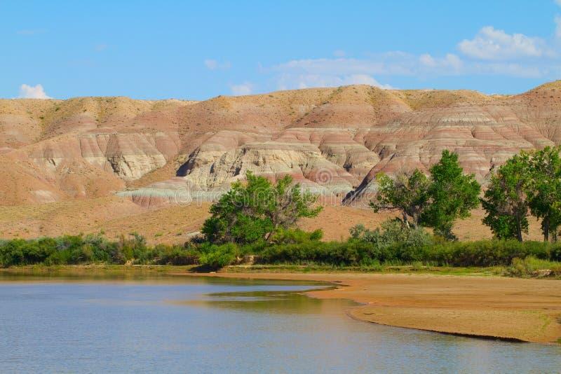 Πράσινος ποταμός στο εθνικό καταφύγιο άγριας πανίδας Ouray στοκ φωτογραφία