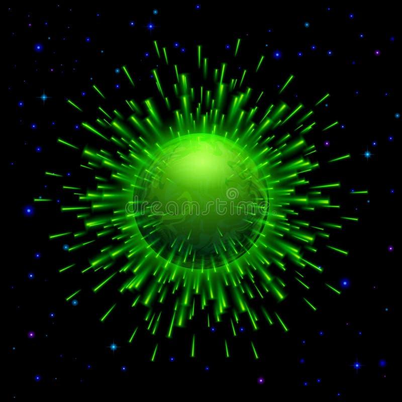 Πράσινος πλανήτης διανυσματική απεικόνιση
