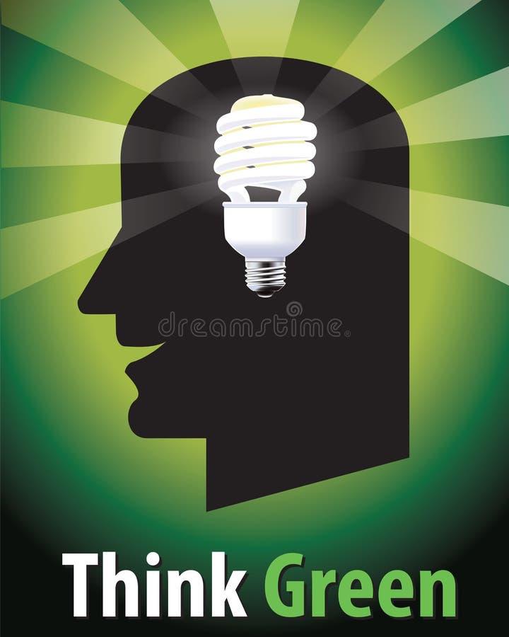 πράσινος σκεφτείτε στοκ φωτογραφία με δικαίωμα ελεύθερης χρήσης