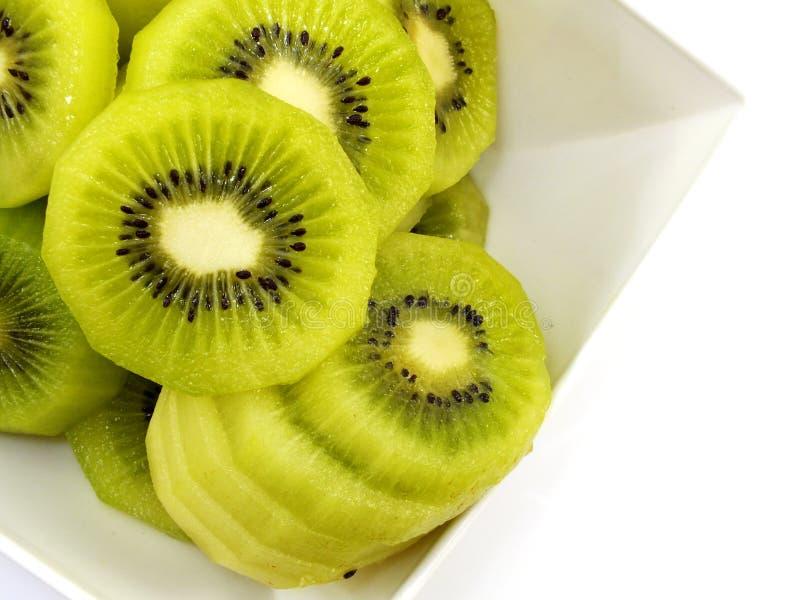 Πράσινος στενός επάνω φετών ακτινίδιων στοκ εικόνα με δικαίωμα ελεύθερης χρήσης