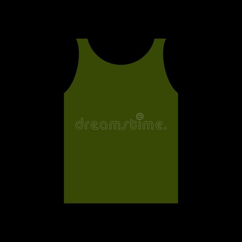 Πράσινος στρατιώτης πουκάμισων Ενδύματα στρατού που απομονώνονται Στρατιωτικές στολές διανυσματική απεικόνιση