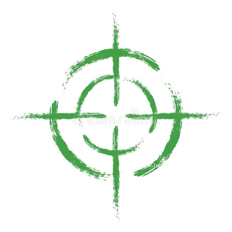 Πράσινος στόχος στο απομονωμένο άσπρο υπόβαθρο Διανυσματικό στοιχείο, απεικόνιση, εικονίδιο για το σχέδιό σας ελεύθερη απεικόνιση δικαιώματος