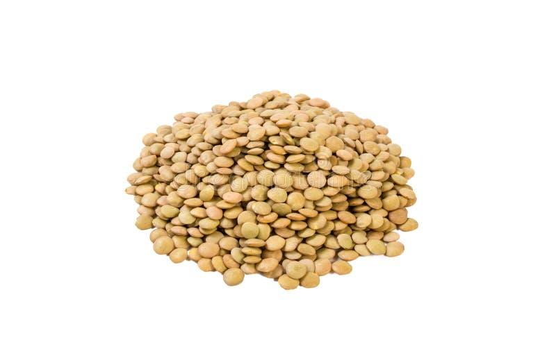 Πράσινος σωρός φακών που απομονώνεται στο άσπρο υπόβαθρο διατροφή βιο φυσικό συστατικό τροφίμων στοκ φωτογραφίες
