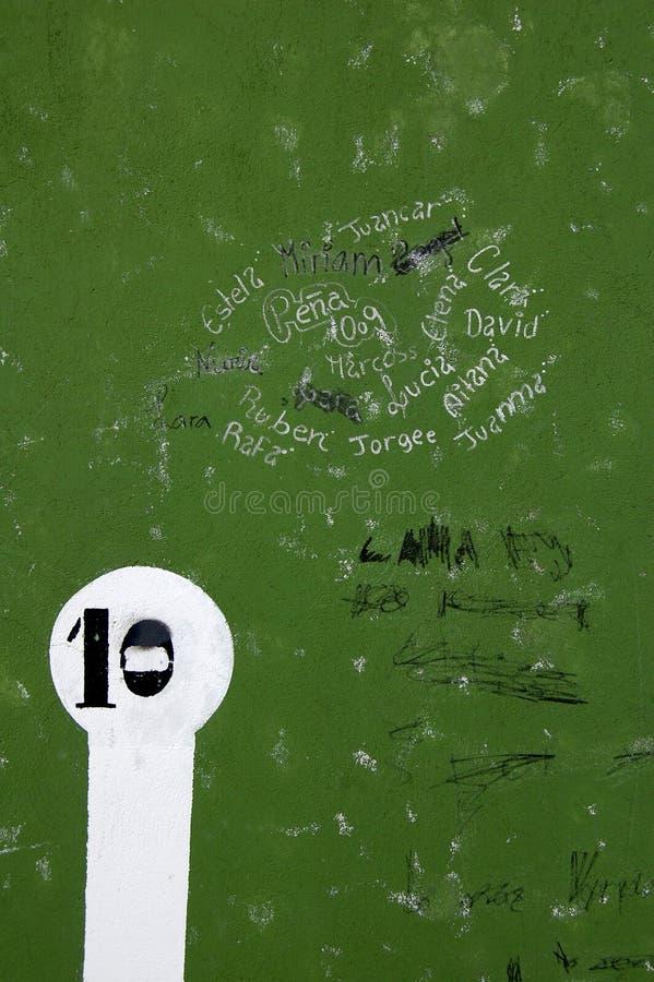 Πράσινος τοίχος με το κείμενο στοκ εικόνα με δικαίωμα ελεύθερης χρήσης