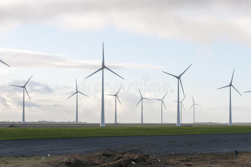 Πράσινος τομέας αιολικής ενέργειας στοκ εικόνα