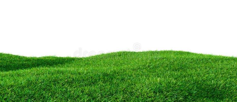 Πράσινος τομέας χλόης λόφους, που απομονώνεται στους μικρούς στοκ φωτογραφία με δικαίωμα ελεύθερης χρήσης