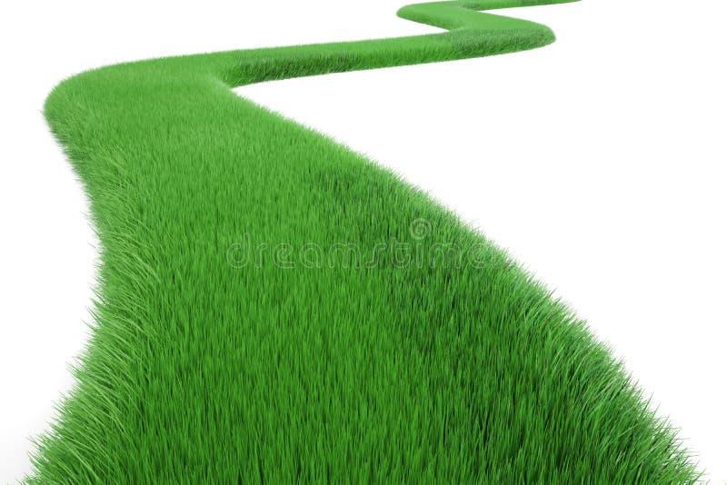 Πράσινος τρόπος χλόης, τρισδιάστατη απόδοση ελεύθερη απεικόνιση δικαιώματος