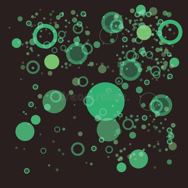 πράσινος τυχαίος φυσαλί&de διανυσματική απεικόνιση