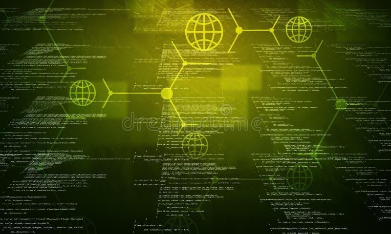 Πράσινος δυαδικός κώδικας στο Μαύρο στοκ εικόνα με δικαίωμα ελεύθερης χρήσης