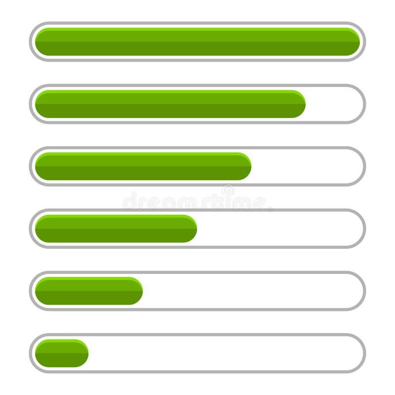 Πράσινος φραγμός προόδου που τίθεται στο άσπρο υπόβαθρο διάνυσμα ελεύθερη απεικόνιση δικαιώματος