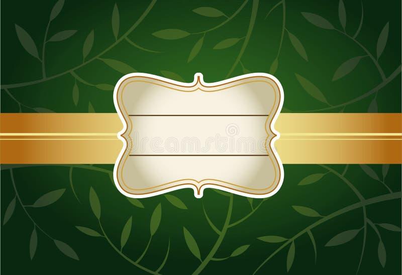 πράσινος χαιρετισμός καρ&t απεικόνιση αποθεμάτων