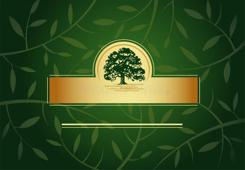 πράσινος χαιρετισμός καρ&t διανυσματική απεικόνιση