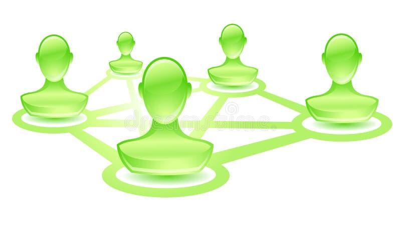πράσινος χρήστης δικτύων διανυσματική απεικόνιση