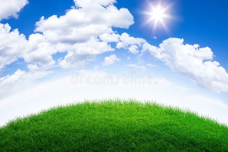 πράσινος λόφος χλόης στοκ εικόνες με δικαίωμα ελεύθερης χρήσης