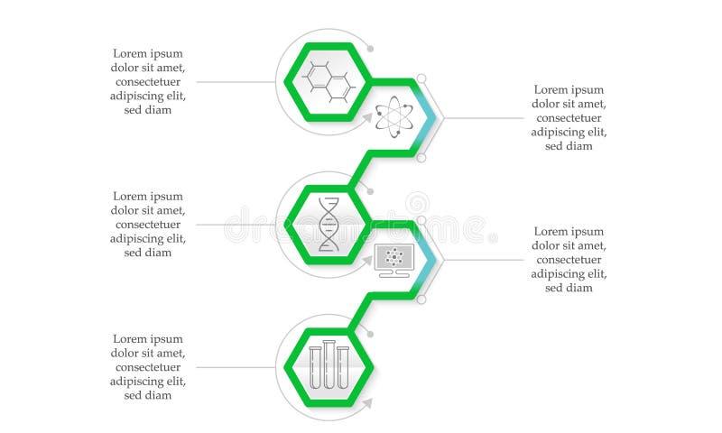 πράσινος infographic διανυσματική απεικόνιση